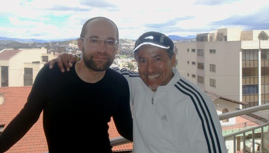 Iván Vallejo with Martin (author of interview), Quito, Ecuador