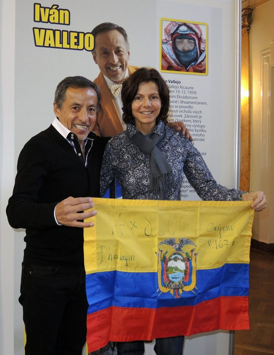 Iván Vallejo and Gerlinde Kaltenbrunner, Prague, Czech republic