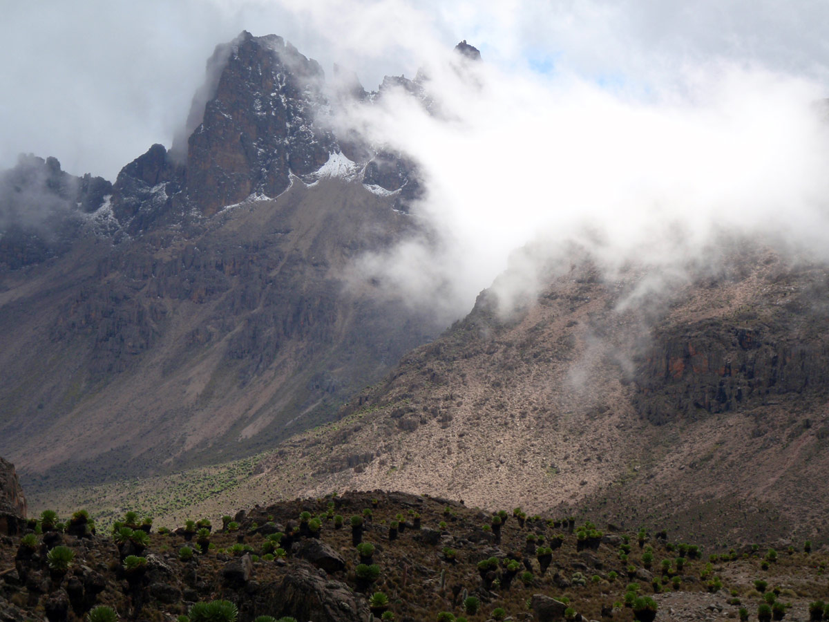Point Lenana (4985m), Mt. Kenya, Keňa