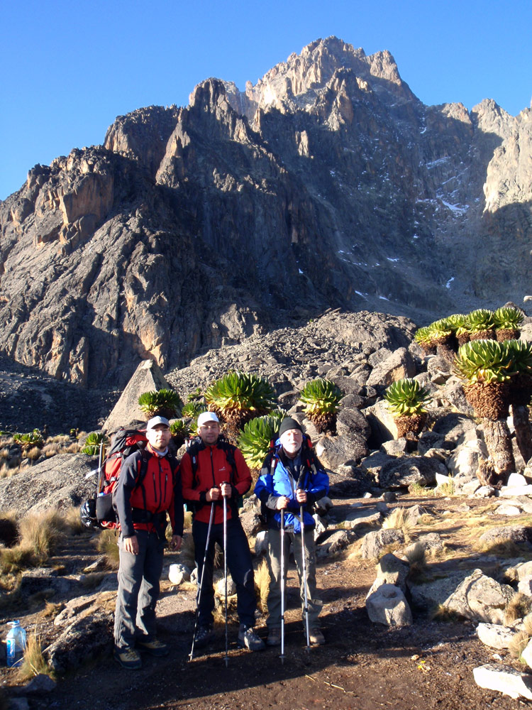 Výstup na Point Lenana (4985m), Mt. Kenya